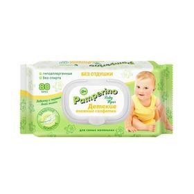Влажные салфетки Pamperino Duo, детские без отдушки, 2*80 шт.