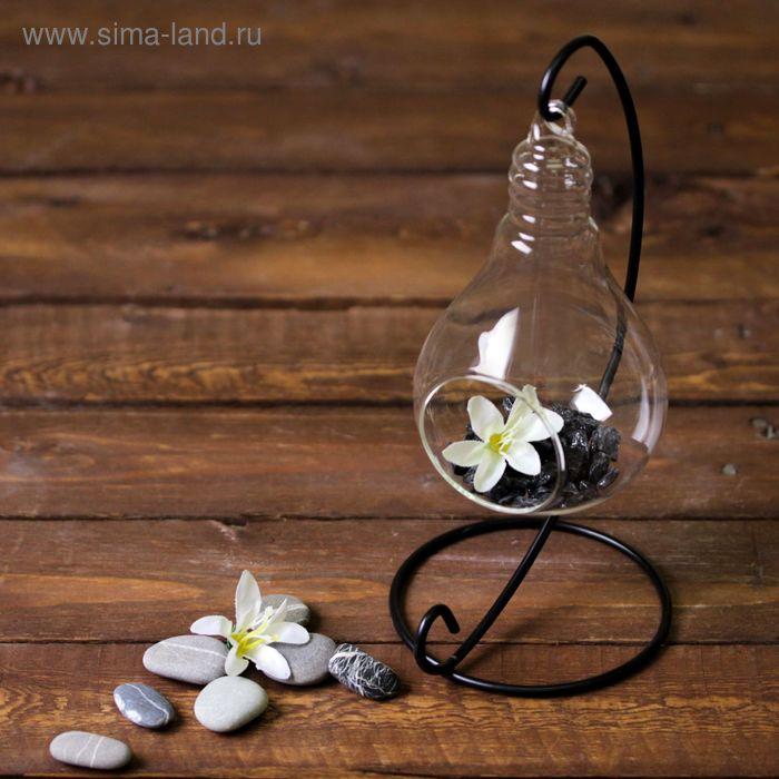 """Флорариум подвесной на подставке """"Лампочка"""""""