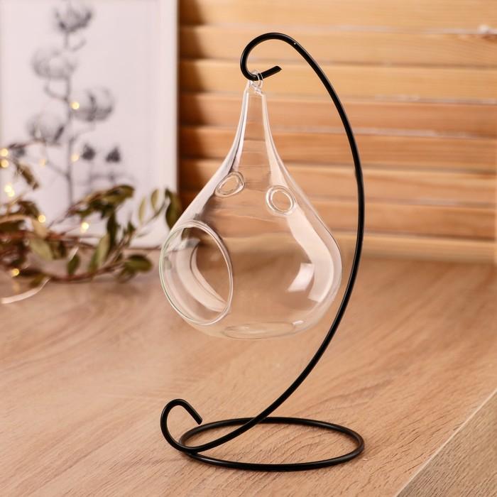 """Флорариум подвесной на подставке """"Груша"""""""