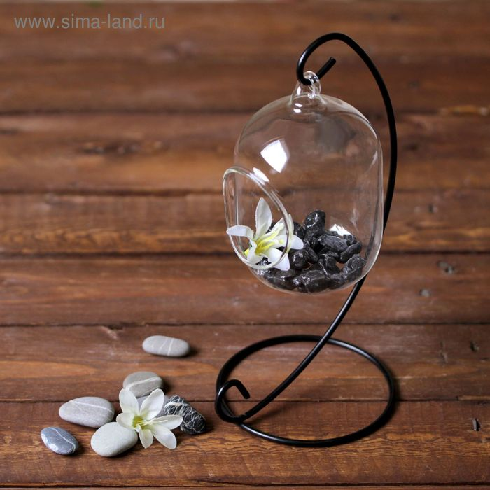 "Флорариум подвесной на подставке ""Цилиндр"""