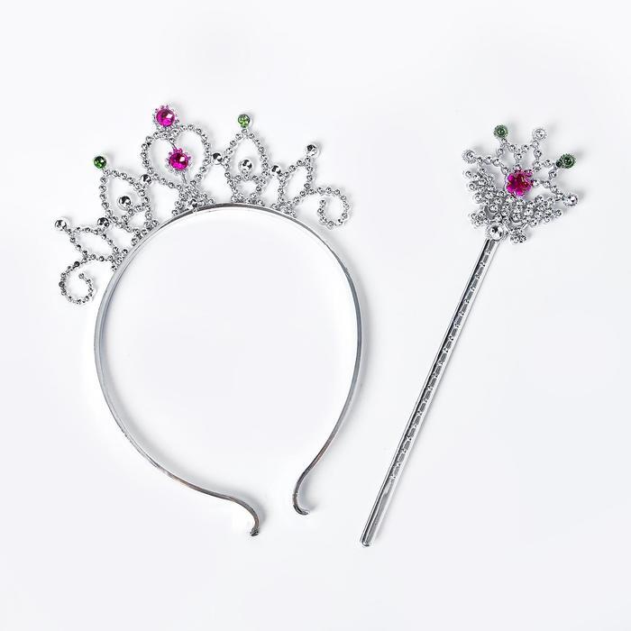 Карнавальный набор Маленькая фея, 2 предмета жезл, ободок