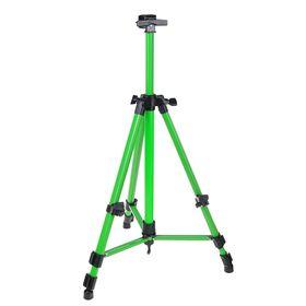 Мольберт телескопический, тренога, металлический, зелёный, размер 51-153 см Ош