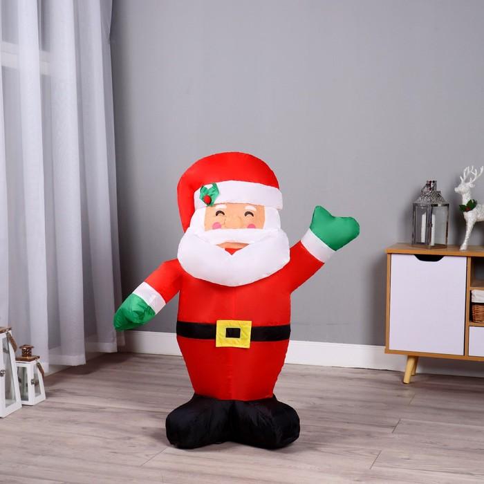 Надувная фигура Дед Мороз машет рукой, 90 см