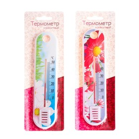 Пластиковый термометр комнатный 'Цветок' в блистере (0 +50), Ош