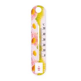 Пластиковый термометр комнатный 'Цветок' в пакете, микс Ош