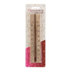 Деревянный термометр комнатный  в блистере (0 +50), Ош
