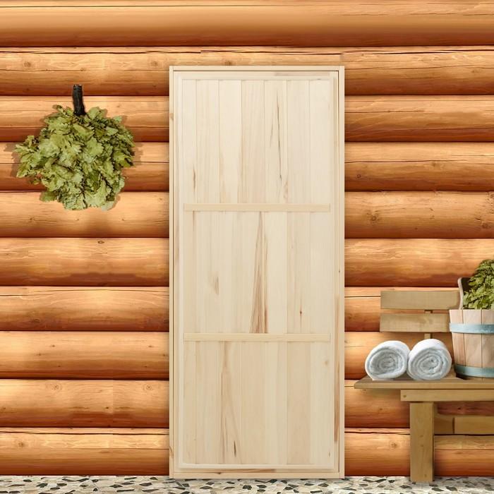 """Дверь для бани """"Эконом"""", 160×70см"""