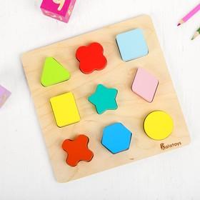 Сортер «Цветные фигуры», 9 элементов