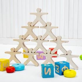 Развивающая игрушка Балансир «Физкультурники», 10 элементов
