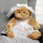 "Мягкая игрушка ""Медведица, красавица невеста"", 30 см"