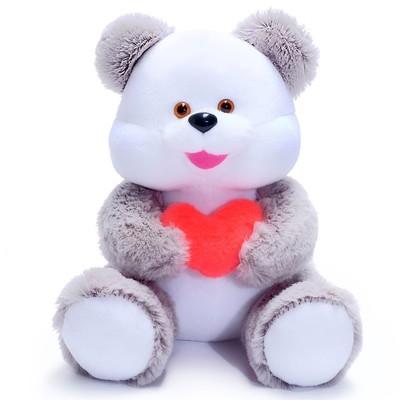 Мягкая игрушка «Медведь», с сердцем, МИКС - Фото 1
