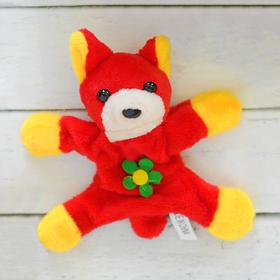 Мягкая игрушка-магнит «Собачка», длинные ушки, цветок, цвета МИКС Ош