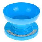 Весы кухонные LuazON, механические, до 3 кг, чаша 1 л, синие