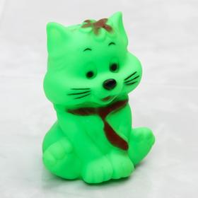Резиновая игрушка для игры в ванной «Котик» с пищалкой, цвет МИКС