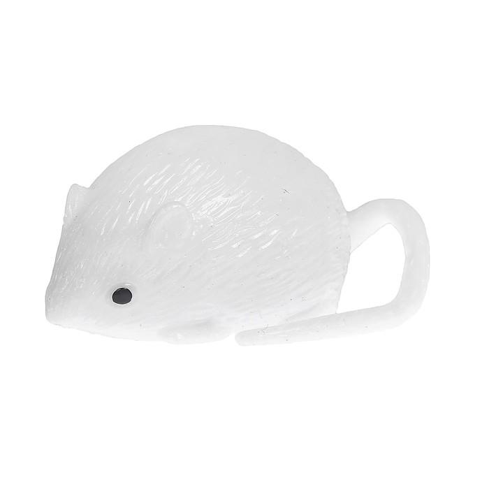 Мялка Мышь, с водой, цвет белый