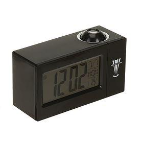 Будильник LuazON LB-13, часы, с проектором, вход DC, черный