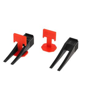 Комплект Зажим + Клин для выравнивания плитки LOM, в упаковке 40/40 шт