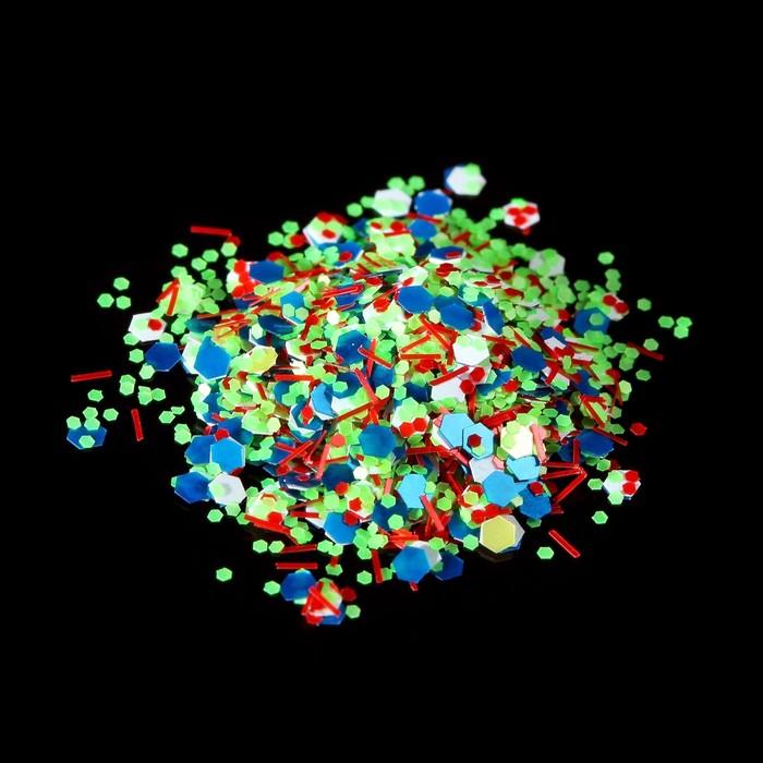 Камифубукикрошка для декора, цвет голубойзелёныйкрасный
