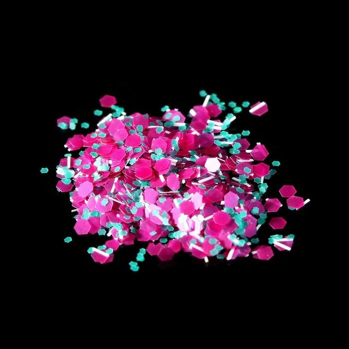 Камифубукикрошка для декора, цвет бирюзовыйрозовый