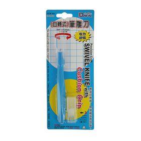 Инструмент для творчества поворотный 360 градусов нож + 4 лезвия пласт, металл 12см 22,5х9см Ош