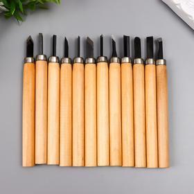 Набор ножей с деревянной ручкой 12 шт 20х17 см Ош