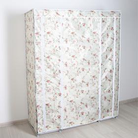 Шкаф для одежды «Розы», 130×45×175 см, цвет белый Ош