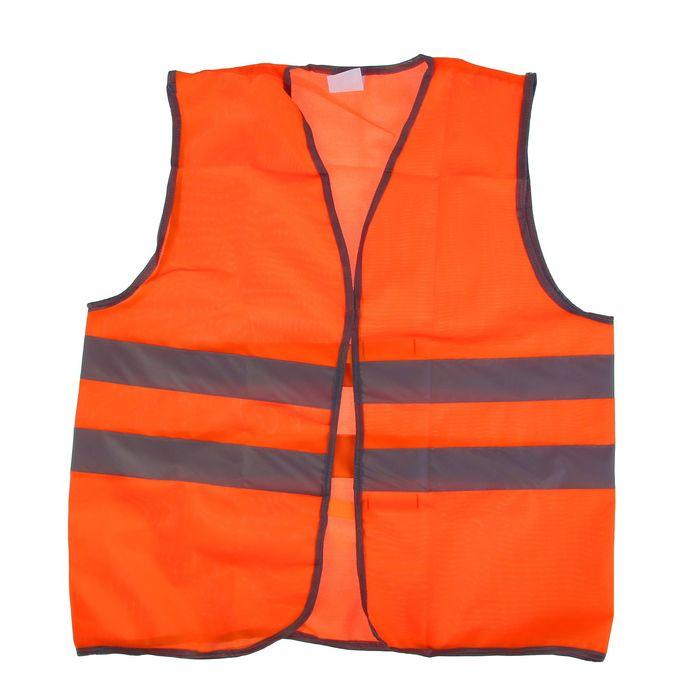 Жилет сигнальный, оранжевый, размер XL