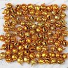 Бубенчики, набор 100 шт., размер 1 шт. 0,6 см, цвет золотистый