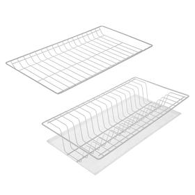 Комплект посудосушителей с поддоном для шкафа 50 см, 46,5×26,5 см, цвет белый Ош