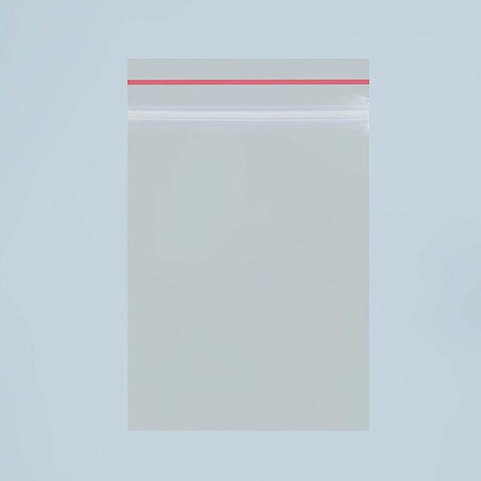 Пакет zip lock 7 х 5 см, 35 мкм с красной полосой