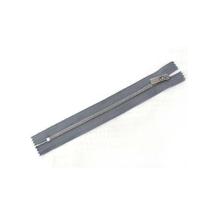 Молния ZZD металл №3СТ никель н/р 18 см, цвет серый