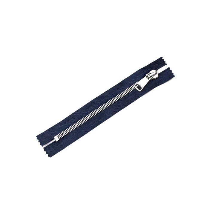 Молния ZZD металл №8СТ никель н/р 18 см, цвет синий