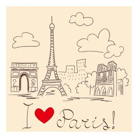 Фасад 'Галерея', крем, рисунок Париж Ош