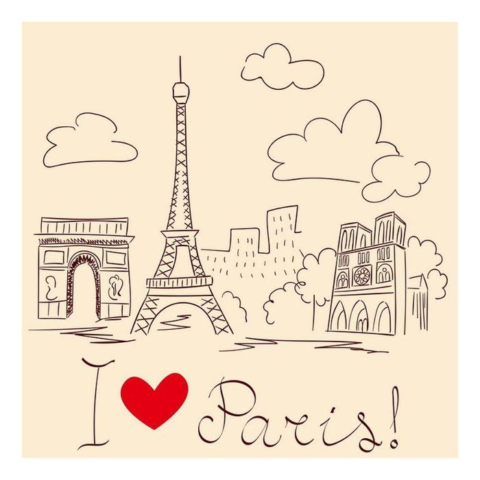 Фасад Галерея, крем, рисунок Париж