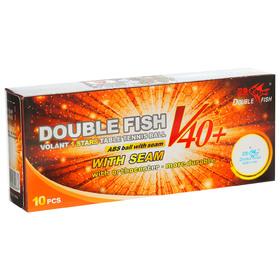 Мячи для настольного тенниса Double Fish, 1 звезда, 10 шт., диаметр 40+