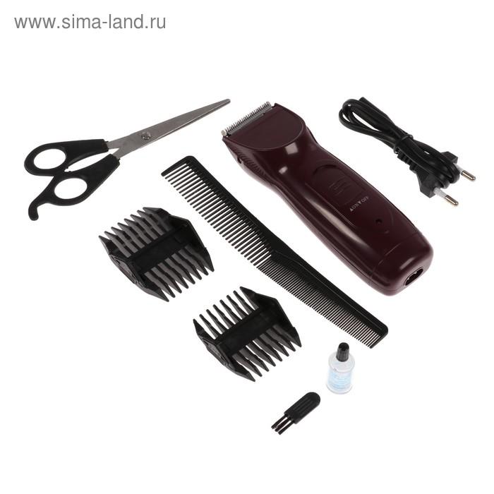 Машинка для стрижки волос Irit IR-3351, 10 Вт, 220 В, 2 насадки-гребня, нерж. сталь