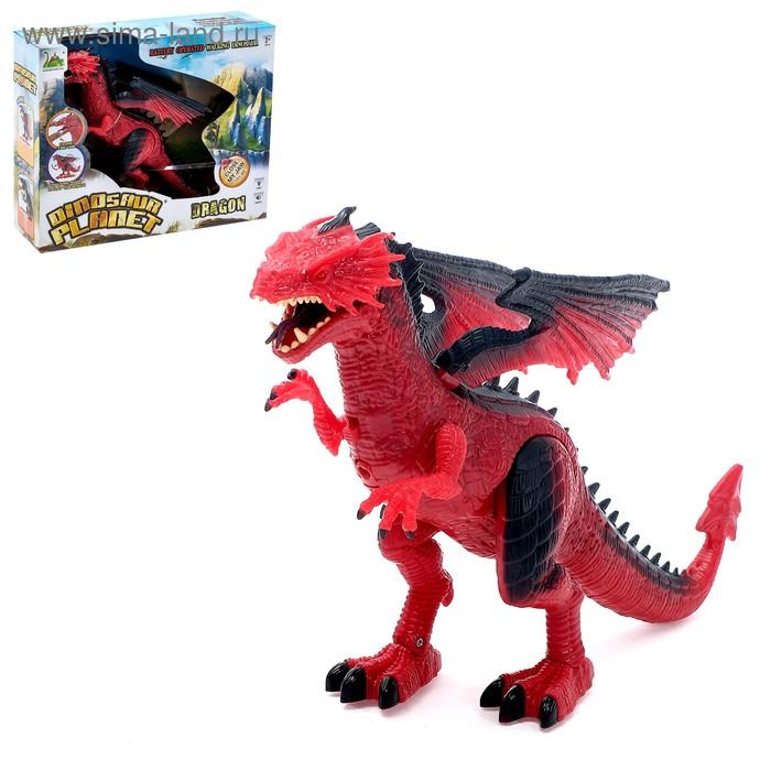 """Динозавр """"Дракон"""", работает от батареек, свет и звук"""
