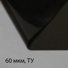 Плёнка полиэтиленовая, техническая, толщина 60 мкм, 3 × 10 м, рукав, чёрная, 2 сорт, Эконом 50 %