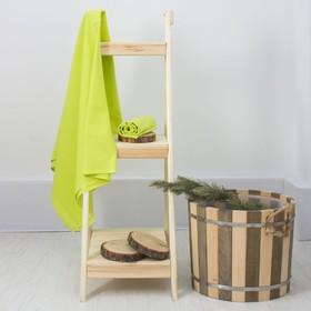 Простыня вафельная для бани «Экономь и Я», 150х180 см, цвет салатовый Ош