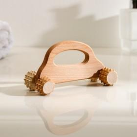 Массажер деревянный 'Машинка', 4 ролика Ош