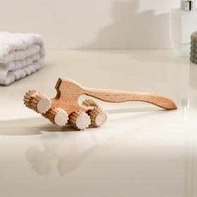 Массажер деревянный 'Топорик', 8 роликов Ош
