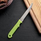 Нож кухонный «Акли», зубчатое лезвие 10,5 см, цвета МИКС