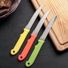 Нож кухонный «Акли», зубчатое лезвие 10,5 см, цвет МИКС - Фото 2