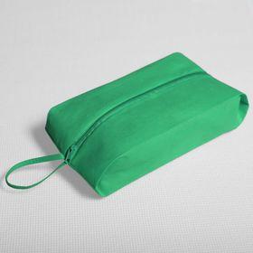 Сумка для обуви, отдел на молнии, цвет зелёный Ош