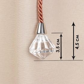 Кисть для штор «Кристалл», 59 ± 1 см, цвет медный Ош