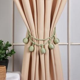 Кисть для штор «Шарлин», 75(±1) см, цвет зелёный Ош