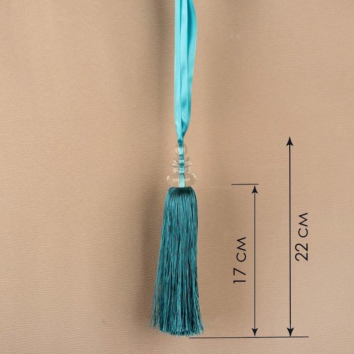 Кисть для штор «Камила», 60 ± 1 см, цвет бирюзовый