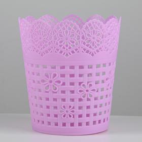Корзина для хранения «Плетение», 10,5×10,5×11,5 см, цвет МИКС Ош