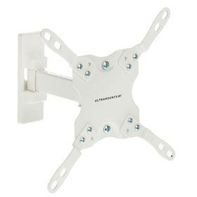 """Кронштейн Ultramounts UM864W, для ТВ, наклонно-поворотный, 13-43"""", 60-190 мм от стены, белый"""