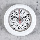 """Часы настенные, серия: Классика, """"Снежинка"""", белый обод, 22х22 см, микс"""